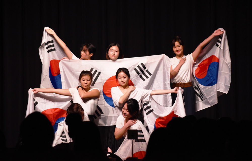 The annual Intercultural Dinner took place on Saturday Oct. 21 in the MacVittie College Union Ballroom. Student organizations, including the Korean American Student Association (pictured above), performed at the dinner about issues regarding immigration, racism and poverty across different cultures (Josie Kwan/assoc. photo editor).
