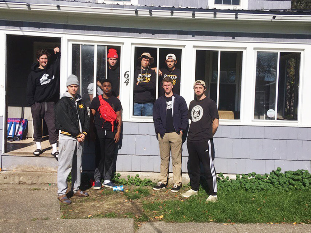 """Phi Kappa Chi (pictured above) is a local fraternity at Geneseo that was founded in 1991. Known by most students as """"Phi Kap"""", they have two established houses and are heavily involved with Geneseo's intramural sports leagues (Courtesy of Tim Quash)."""