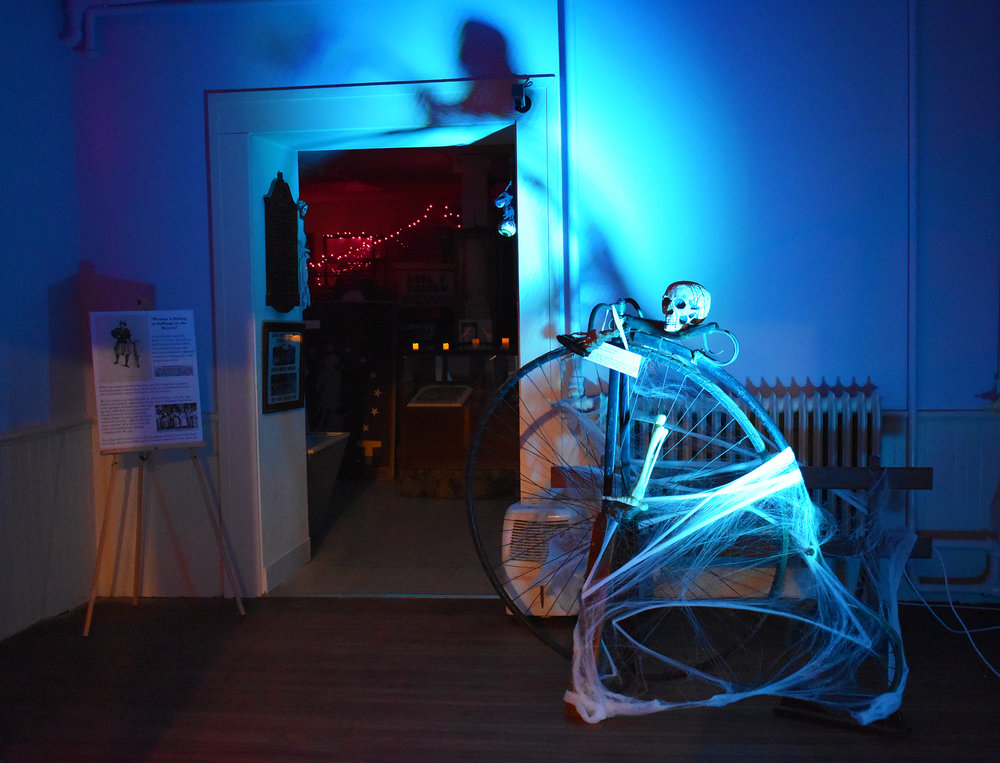 Geneseo Late Knight hosted their annual Fright Night at the Livingston County Museum on Friday Oct. 26. The event educated the community about Geneseo's local history through demonstrations put on by the Reenactment Company, while adding a Halloween twist (Josie Kwan/Assoc. photo editor).