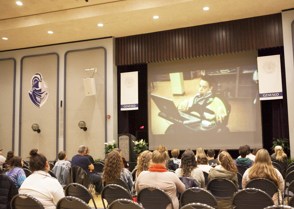 The documentary  Intelligent Lives  was shown in the MacVittie College Union Ballroom on Monday Nov. 5 by LIVES. Students watching the film were inspired by the efforts and accomplishments of the characters (Udeshi Seneviratne/photo editor).