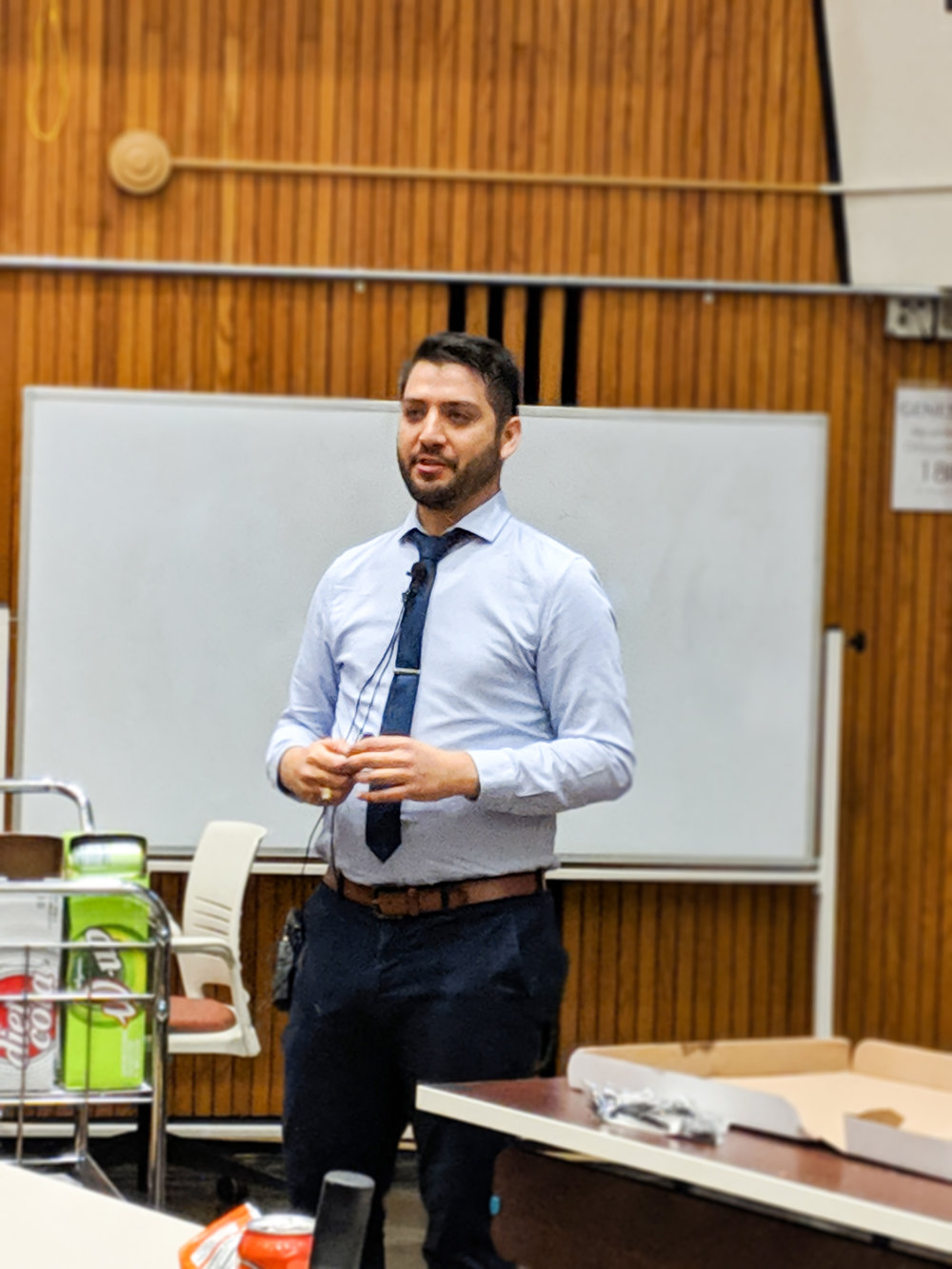 Steven Villanueva (pictured above) talked to Geneseo students about his career path and the obstacles he faced along the way On Thursday Nov. 1. The event was a part of Geneseo Reaching out to Women and Underrepresented Groups in Science, Technology, Engineering and Math (courtesy of anne pellerin).