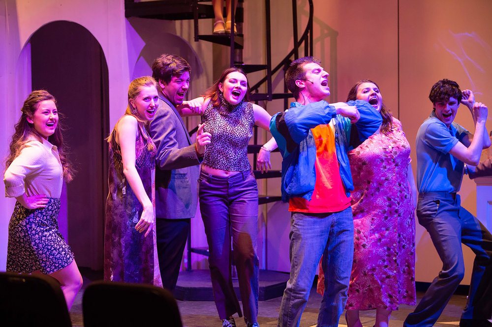 """The Geneseo Musical Theatre Program put on """"Women on the Verge of a Mental Breakdown"""" from Wednesday Jan. 30 to Saturday Feb. 2. The musical dealt with women in absurd and hilarious scenarios involving relationship problems (Courtesy of Ben Gajewski '07)."""