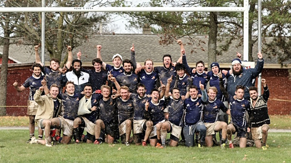 Eleven Geneseo rugby players were selected to receive the all-conference team honors after a successful season. Two players ranked among the top 200 nationwide (Courtesy of Eamon Danieu).