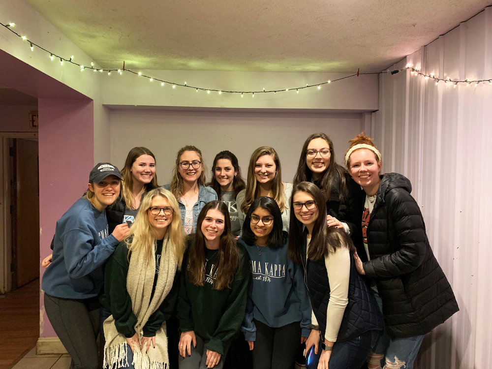 Sigma Kappa's Theta Pi chapter is unique to Geneseo, known for their excellent academic standing as well as their philanthropic efforts. Kappa's editorial board (pictured above) consists of 11 women who are dedicated to their chapter's four core values: friendship, service, personal growth and loyalty (Courtesy of Sophie d'souza).