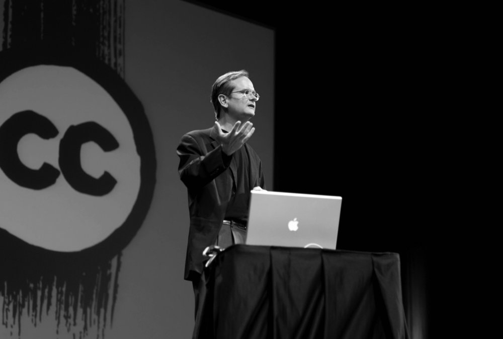 Lawrence Lessig (pictured above), a law professor at Harvard, was the keynote speaker for Open Education Week 2019. Lessig was one of the founding members of Creative Commons and thus focused on copyright law and intellectual property (Courtesy of Joi ITO /CreativeCommons).