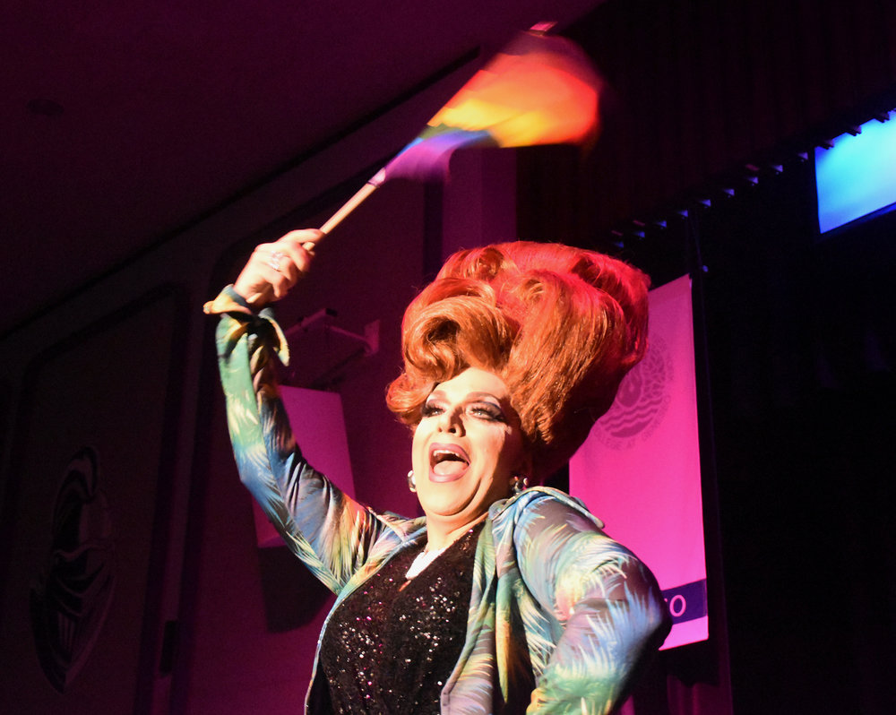 The Pride Alliance held their annual Drag Ball event in the MacVittie College Union Ballroom on Saturday March 2. The event served to support the local LGBTQ+ community while entertaining the audience (Josie Kwan/Assoc. Photo Editor).