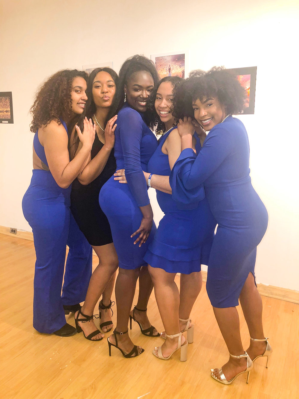 Geneseo's Zeta Phi Beta chapter (pictured above) is a historically black sorority and currently consists of five active members. Although they are small in numbers, the sisters of Zeta Phi Beta have a strong and supportive alumni base who continue to be actively involved with their chapter (Courtesy of Maiah Walton).
