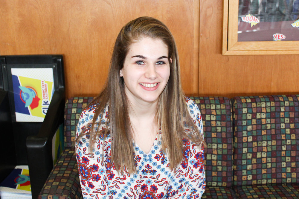 Leah Sherman is a communication major sophomore who is running to be the SA Director of Student Programming for the next academic year. She is running unopposed. (Malachy Dempsey/Managing editor)