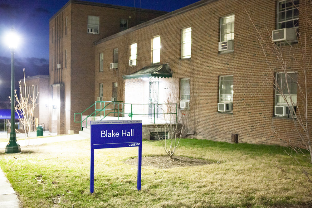 Blake Hall (pictured above) was recently tested for asbestos and results indicated that the environment was safe for professors and students to work in. No plans are currently in order to renovate or demolish the building (Udeshi Seneviratne/photo editor).