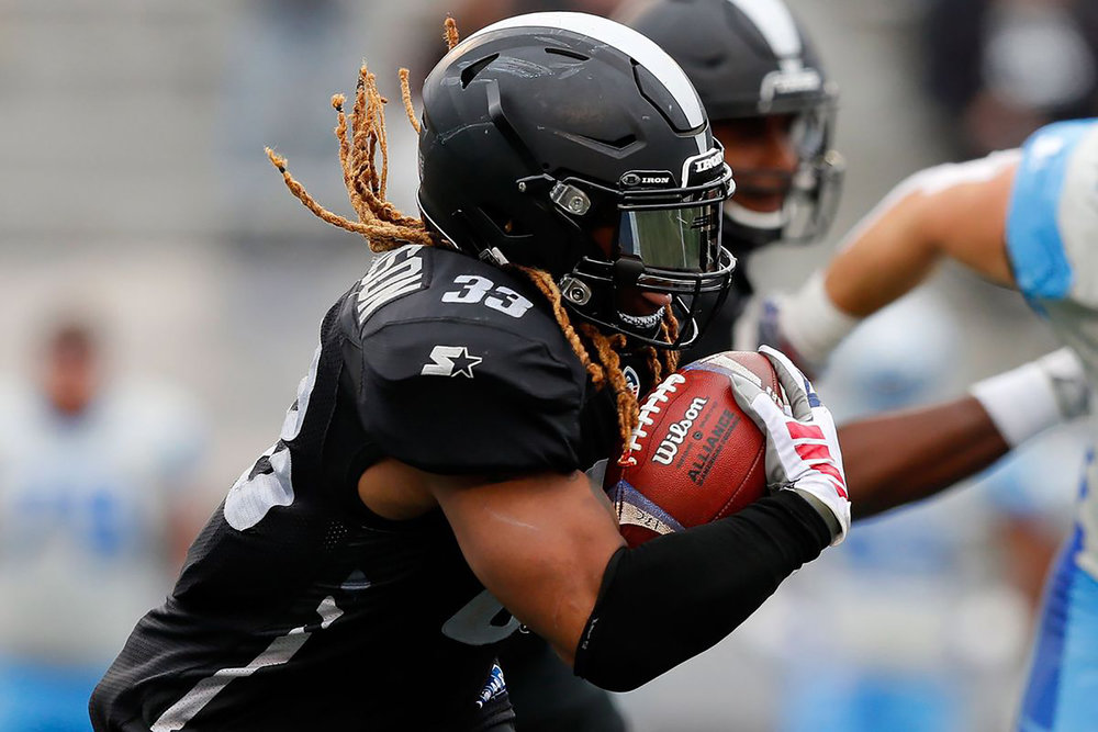 Birmingham Iron running back Trent Richardson (pictured above) hoped to restart his career. This opportunity may disappear as the AAF closes (courtesy of Creative Commons).