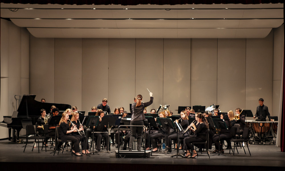 The Geneseo Wind Ensemble (pictured above in 2018) performed at the Geneseo Genesis: New Music Series on Thursday April 4. Geneseo Genesis brought a range of unusually experimental music to the campus (Udeshi Seniveratne/photo editor).
