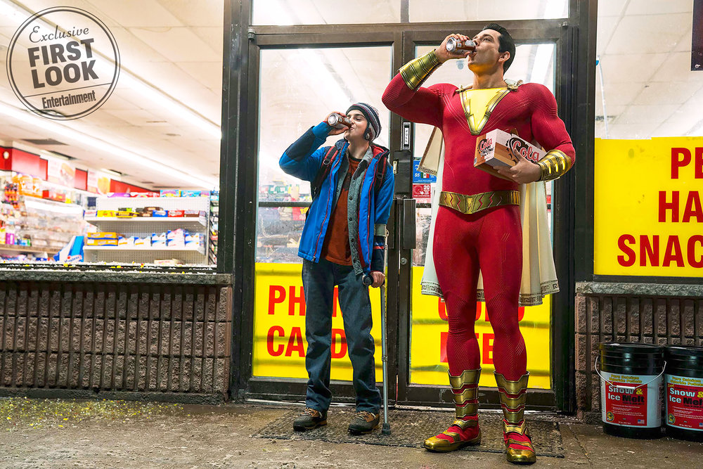 Zachary Levi (pictured right) and Jack Dylan Grazer (pictured left) star in Shazam!, which opened in theatres on Friday April 5. Shazam! follows two adolescent boys, Billy and Freddy, as they cope with Billy's ability to turn into a powerful adult man (courtesy of Creative Commons).