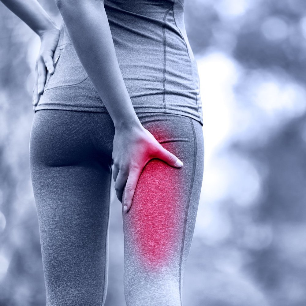 Sometimes lower back pain is felt as pain into the groin, buttocks, thigh and legs. If nerve tissue is involved in your back pain there may even be strange sensations - such as pins and needles, numbness, or in some cases specific muscle weakness. -