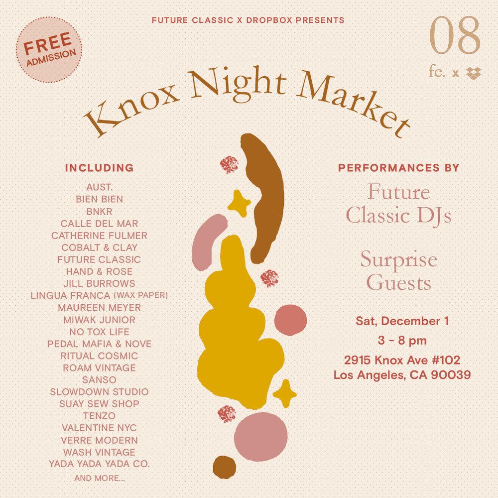 Future Classic & Sanso presents Knox Night Market -