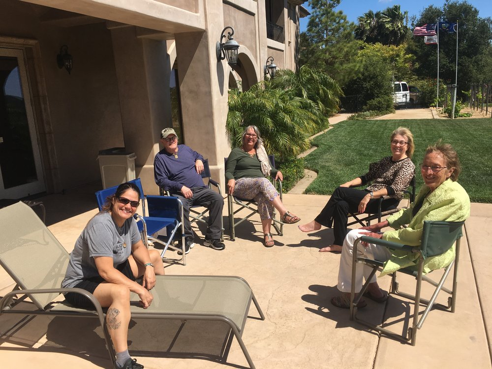 Chillin' at the SPA, Nicc, Dave, Janet, Julie and Carol!!!  Wonderful Peeps!!!