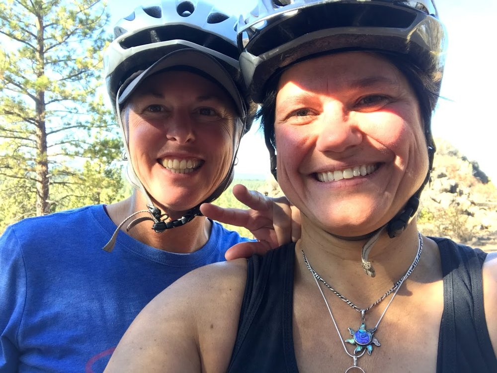 A bike ride in nature…our obvious happy place after all the business!