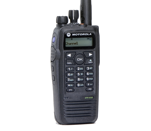 This MOTOTRBO XPR 6550 by Motorola is the perfect solution for users who need a robust communication solution at affordable price. This radio is capable of 1000 digital or analog channels, has a T/A range of 3-5 miles, and has an average battery life of 15+ hours. This radio can also make private calls to individual MOTOTRBO units or to a select group MOTOTRBO units. The XPR6550 can also send/receive private and group text messages to and from other MOTOTRBO radios. Some additional features of the XPR6550 include: enhanced privacy, IP57 (1M water submersible 30 min), MCD, Quick-Call II, DTMF decode/encode, and 6 custom programmable buttons. With all of these features, you can rest assured that whenever you need to get a message across whether it be by text, voice, or private call this radio will have you covered.