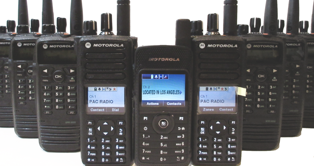 group of mototrbo radios, sl7550, xpr6550, xpr7550