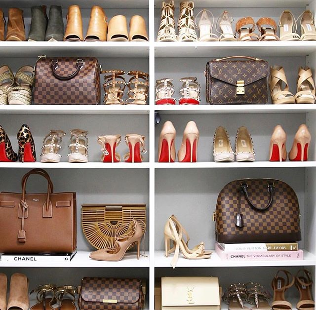 Customised wardrobe storage!! Contact us today and have one of our designers create a fantastic storage space for your home #luxury #luxurious #chanel #louisvuitton #christianlouboutin #highend #mansion #sunshinecoast #wardrobestylist