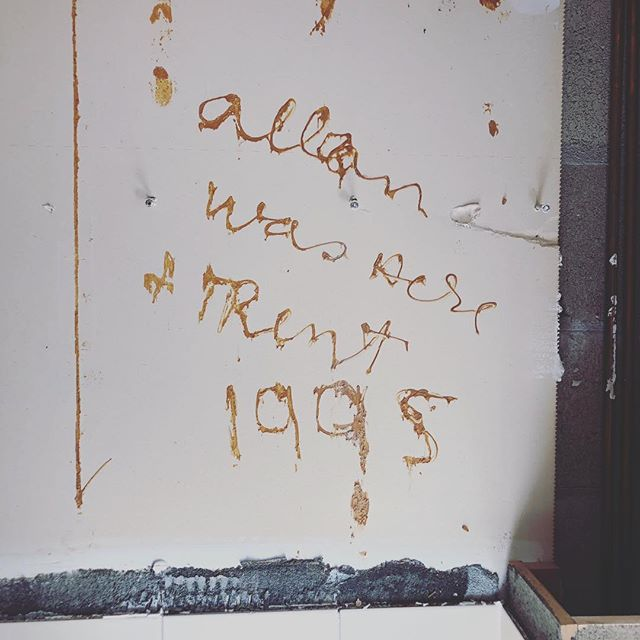 Kitchen demo day! Shout out to Allan and Trent from 1995!!! #thethingsyoufind #kitchen #demo