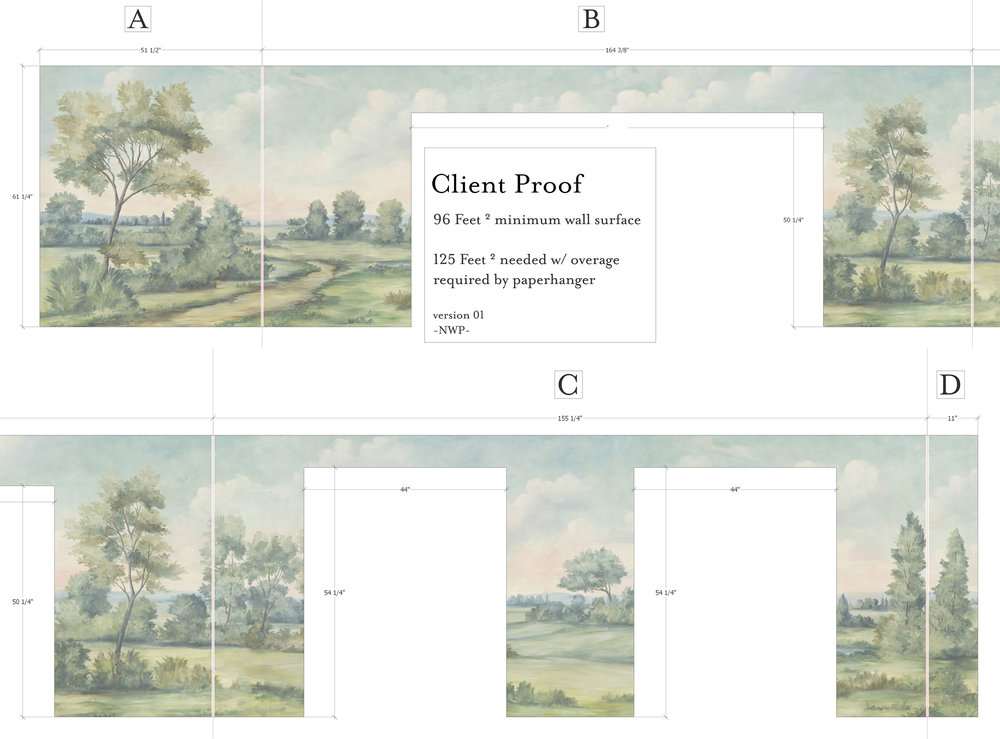 Each mural layout is approved by client.