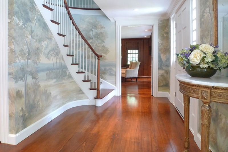 A foyer mural creates a great first impression!