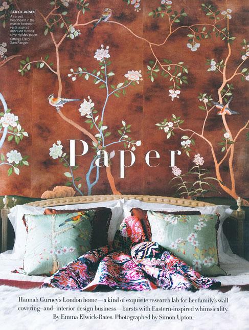 Ever-so-glamorous de Gournay wallpaper!