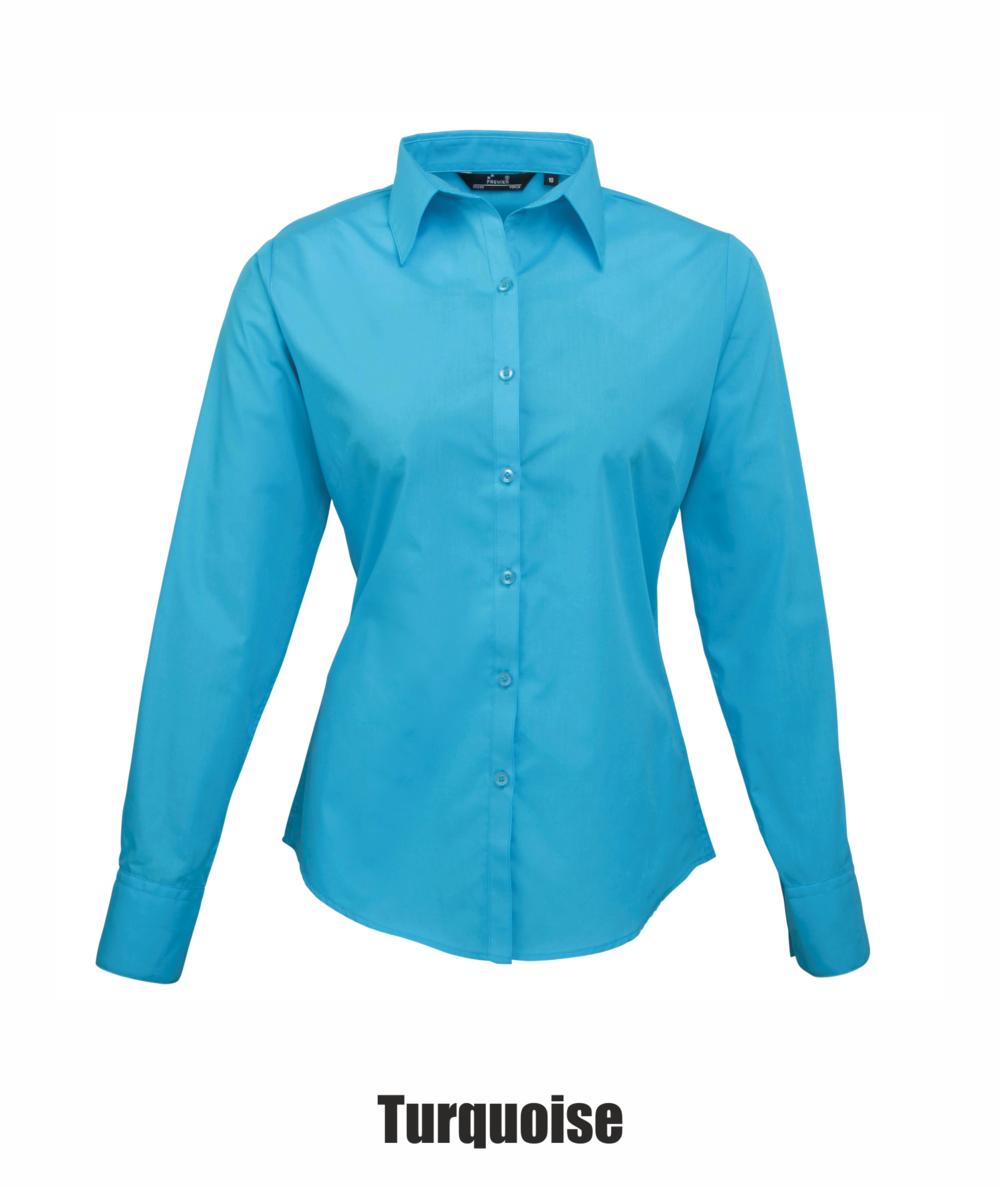 dc0736b96814d Premier Women s Poplin Long Sleeve Blouse — Stitch to Stitch