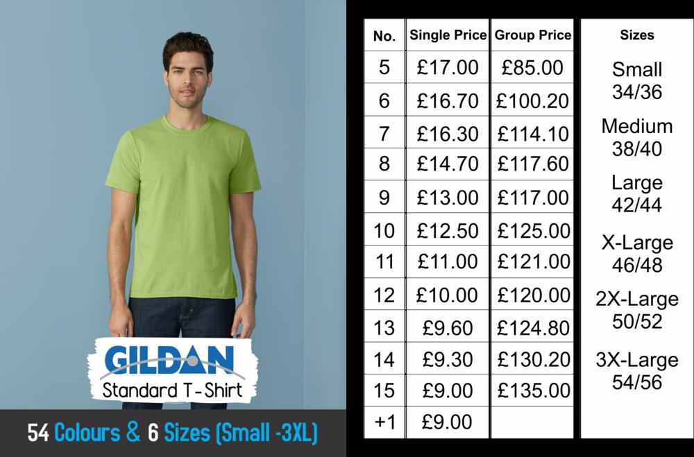 Stag & Hen night Standard Gildan t-shirts size chart.png