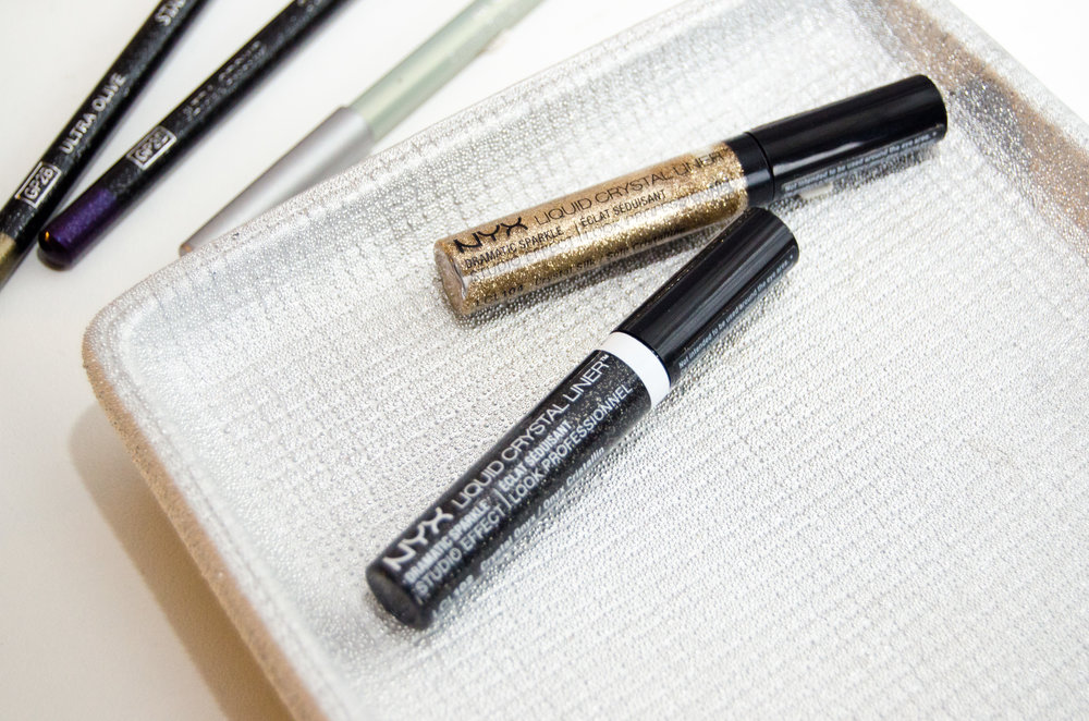 NYX Liquid Crystal Liner in Crystal Onyx and Crystal Silk