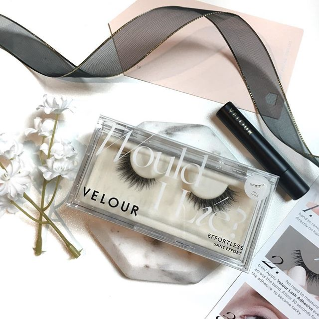 I received these @velourlashesofficial lashes in the style Would I Lie? from the Effortless collection complimentary from @influenster and I have been wearing them nonstop lately! They have a super thin, invisible band that doesn't require you to trace over it with eyeliner after application. They're also a more snug fit and shorter than typical lashes that tend to be too long for me, so no trimming is required. Best of all, they're incredibly lightweight to the point where I forget I'm wearing them. I've actually been going sans-mascara for the past few days and opting to wear these all day instead, as the white velour lash adhesive lasts me 12+ hours. The only drawback I've found so far is that the hairs are super fragile since the band is so thin, so if you accidentally yank on the lashes they do shed. This is easily avoided so long as you handle with care. ✨  I'm shocked by how much I love these - I really think they may be my new holy grail falsies! 🖤