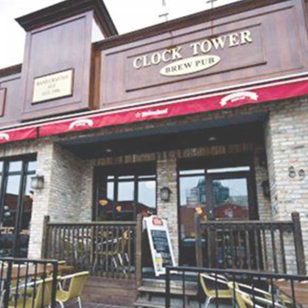 CLOCKTOWER BREW PUB   89 Clarence Street   clocktower.ca