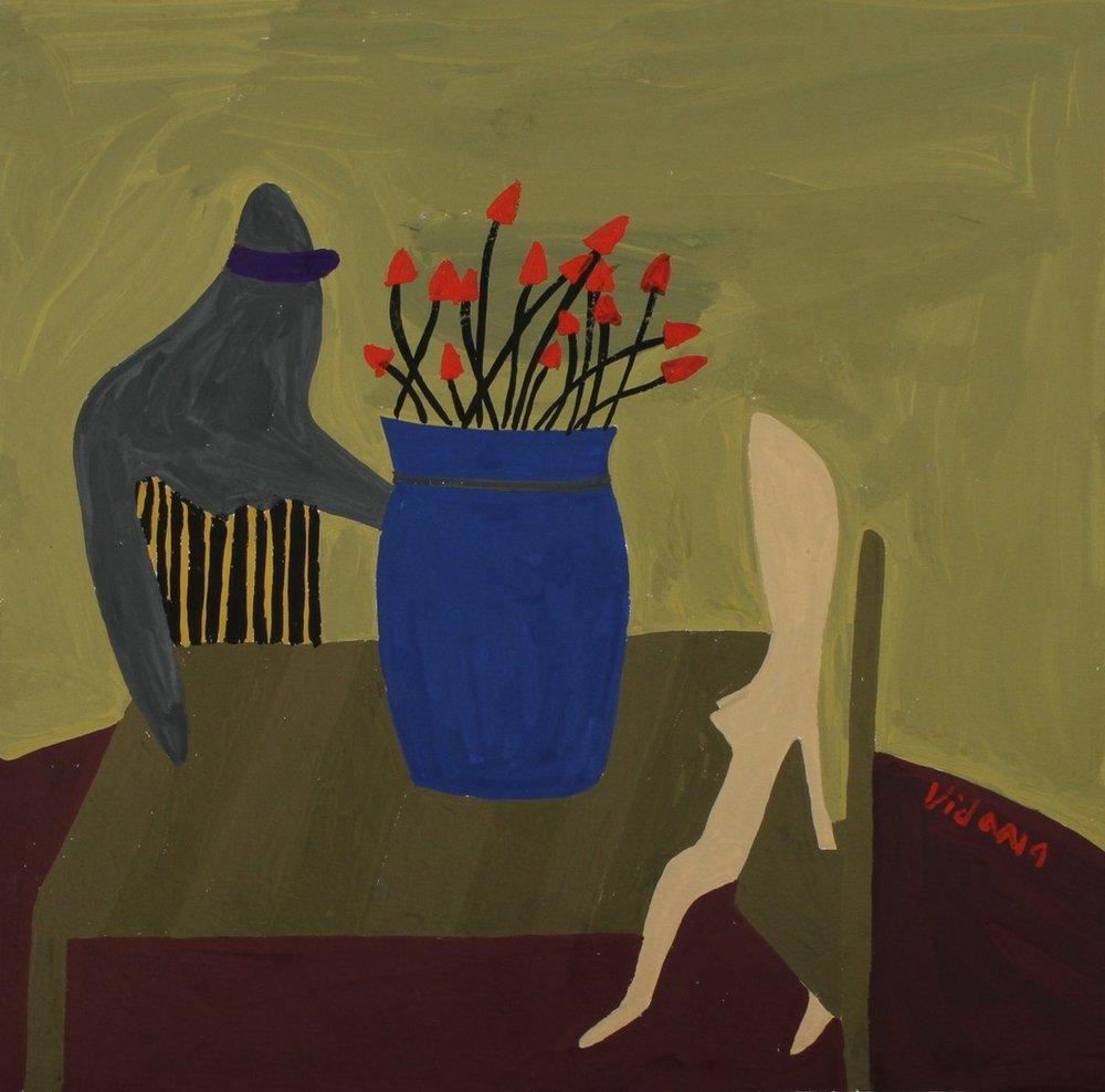 Man Muse Vase