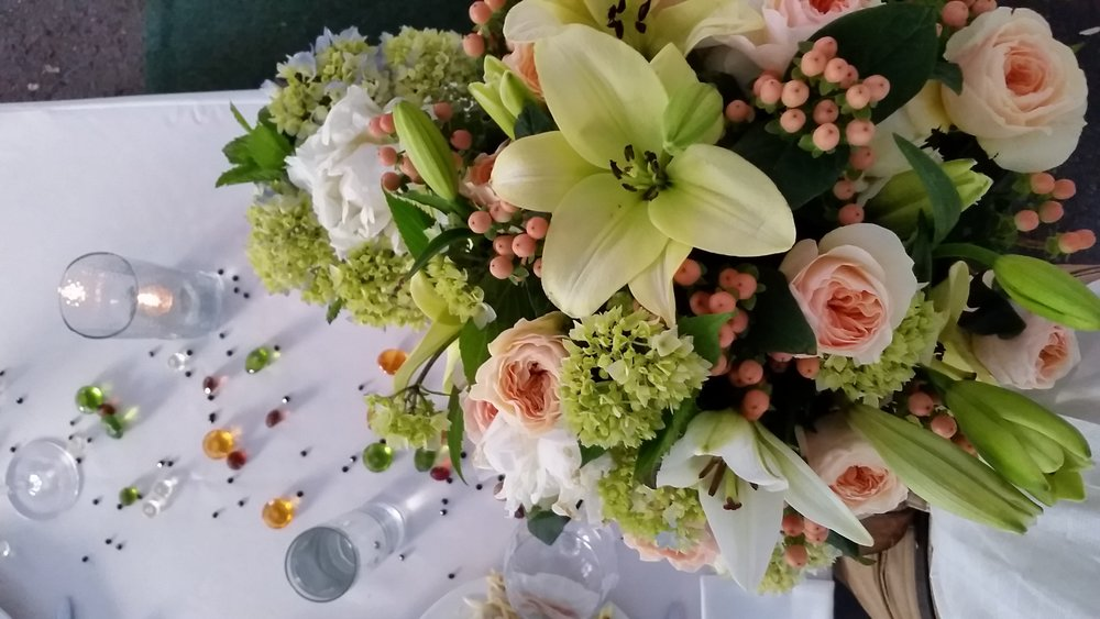 Chameleon Wedding Floral arrangements