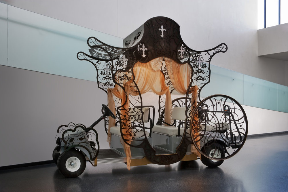 Sweet Chariot - costum golf cart created for  the Nelson museum of art   2011