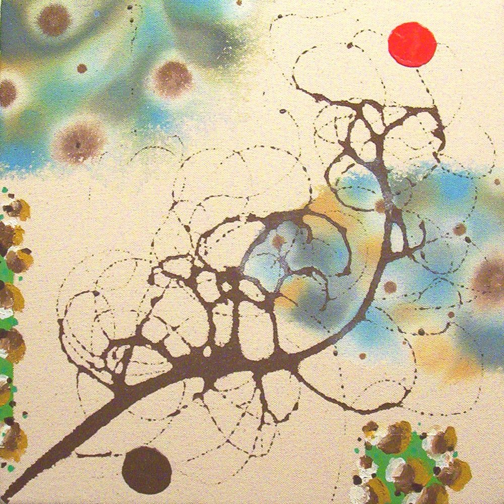 Eco Echo  , 2005, Acrylic on canvas, 12 x 12 in.  Collection of David Woo and Linda Kao