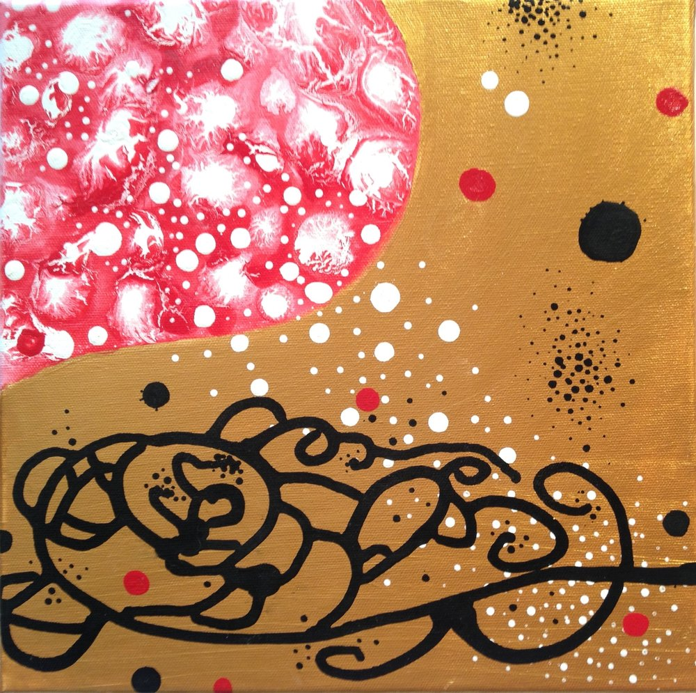 Golden Wonder  , 2005, Acrylic on canvas, 12 x 12 in.