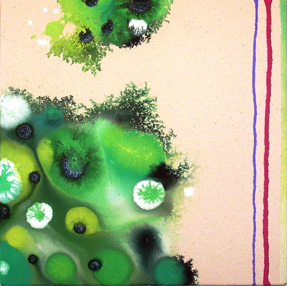 Organelle  , 2004, Acrylic on Canvas, 12 x 12 in.  Maschek Collection