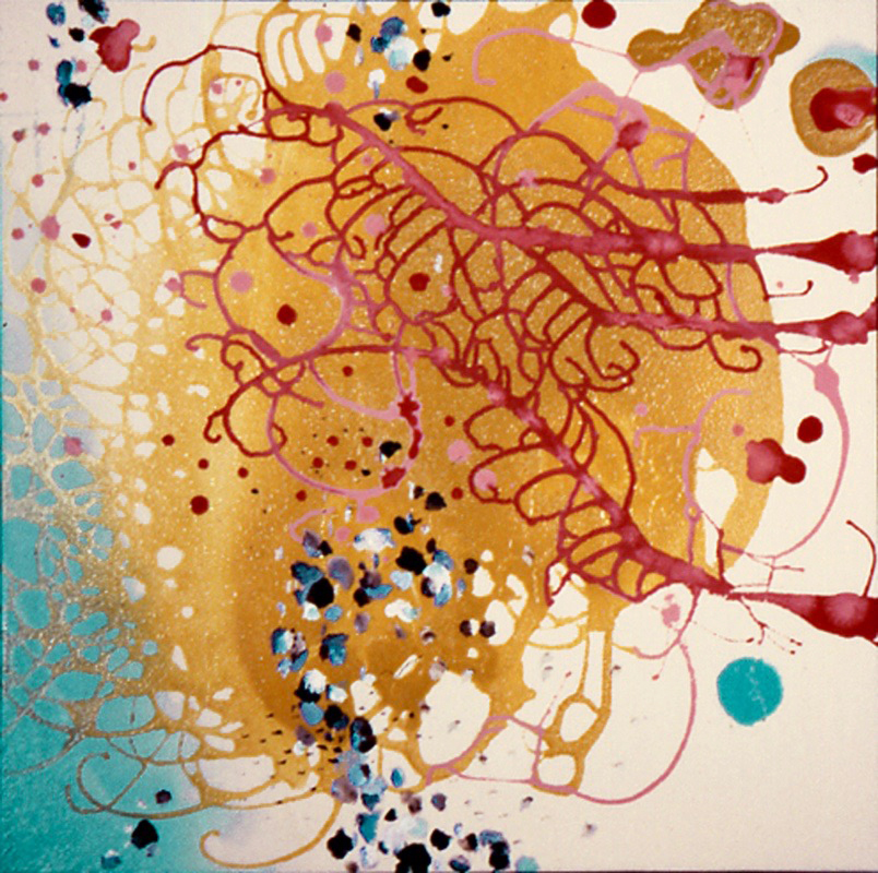 Ebullient  , 2001, Acrylic on canvas, 26 x 26 in.