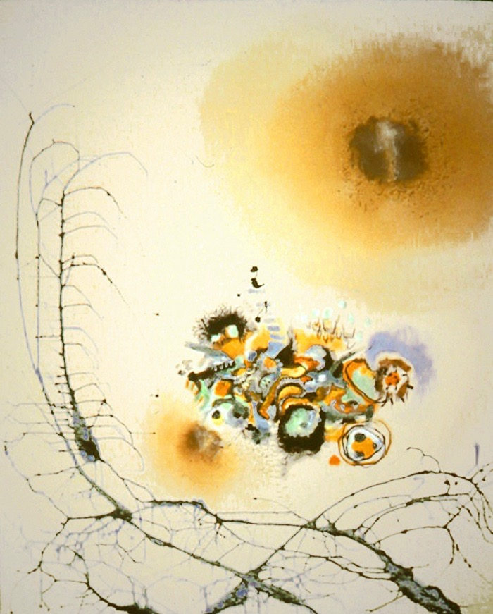 Dragon's Cradle  , 1999, Acrylic on canvas, 62 x 50 in.  Collection of Dr. Charles T. Lee