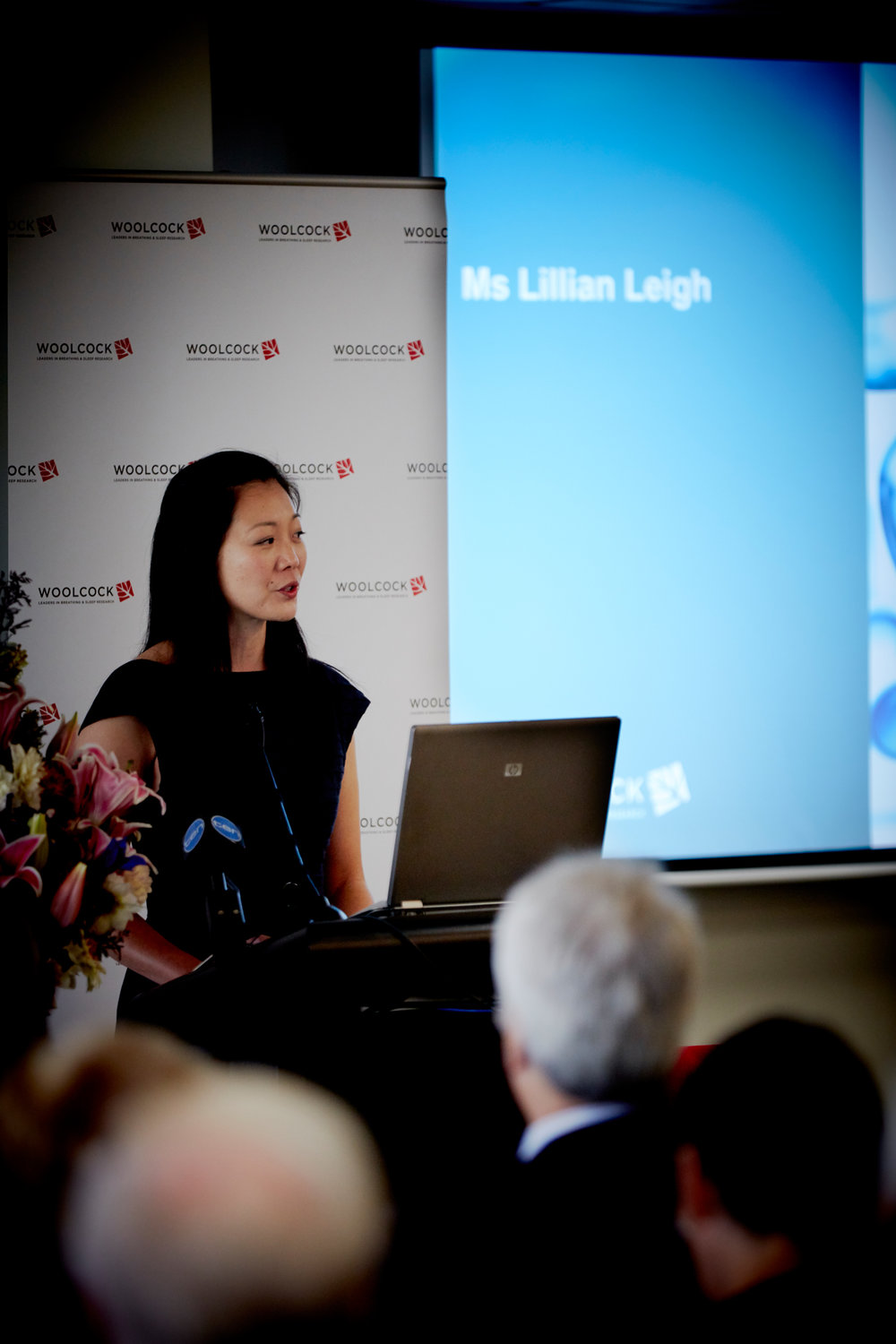 Ms Lillian Leigh at the Woolcock Centre for Lung Cancer Research launch on Wednesday, 18 April 2018.