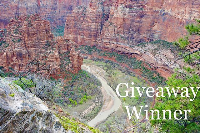 Time to announce our giveaway winner: @theglitzypear ! Congrats 🎊There were over 500 entries and we appreciate everyone who participated. We will be having more giveaways coming up soon so stay tuned. 😊  Enjoy your national parks! #beactive #sagehollowsupply #supportwhatyoulove #nationalparks #zionnationalpark