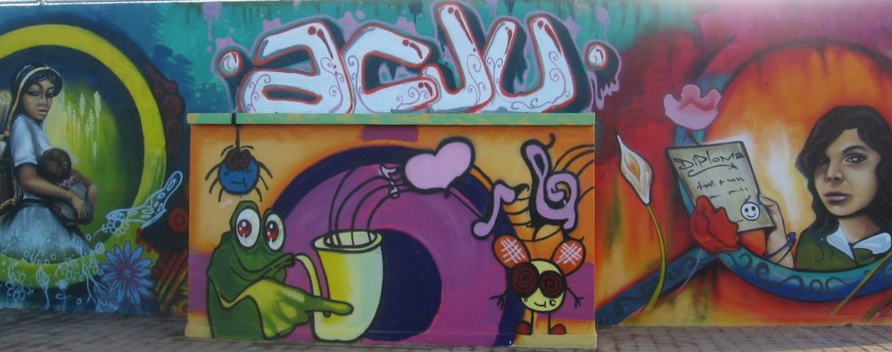 A mural painted by youth leaders from our ACJU - youth leadership development initiative