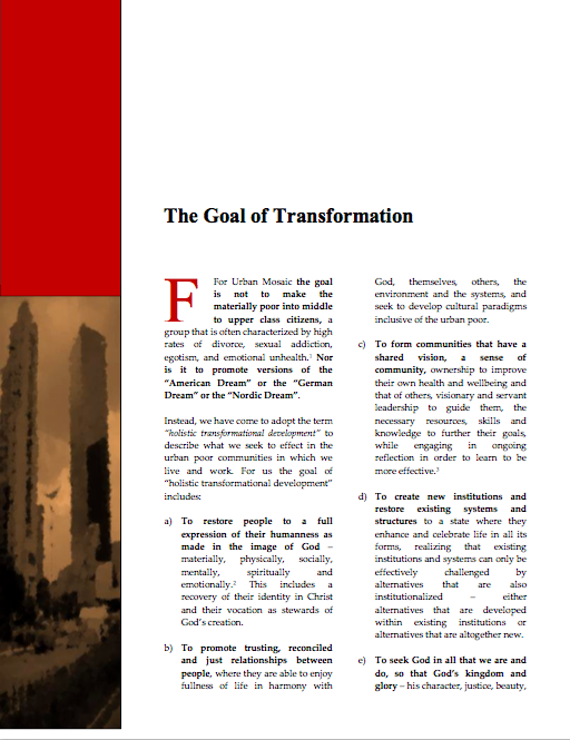 Read our paper, The Goal of Transformation , to learn more about the ten signs of transformation.