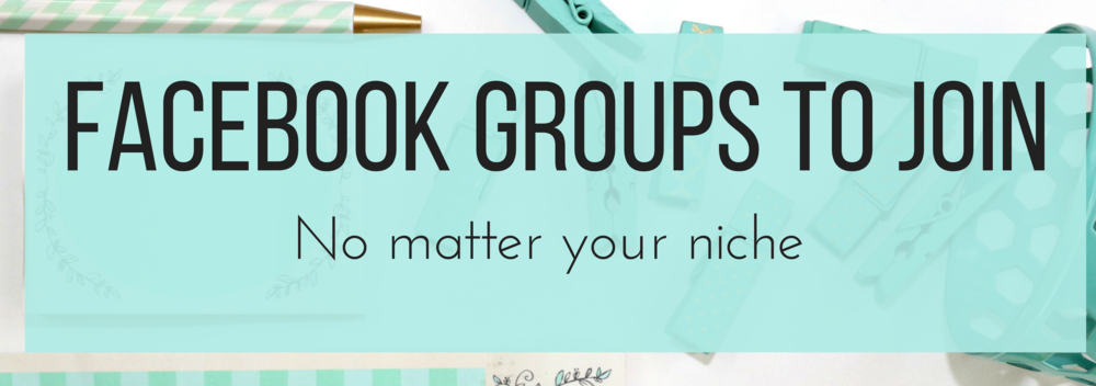 Click here to see a breakdown of the different Facebook Groups to Join to fit whichever niche you're in.