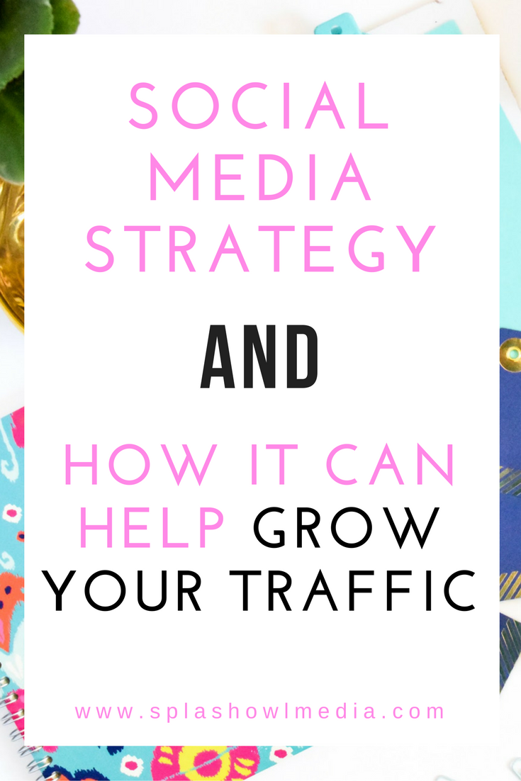 Creating a social media strategy that fits your goals and your brand will help drive relevant traffic to your site.