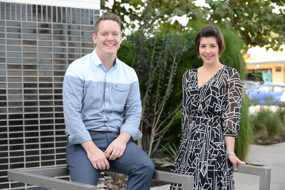 Founding partners, Chris Sommers and Jaclyn Moser