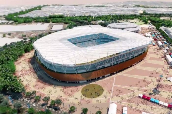 Artist's impression of what the new Olympic stadium will look like. Image provided by the NSW state government.