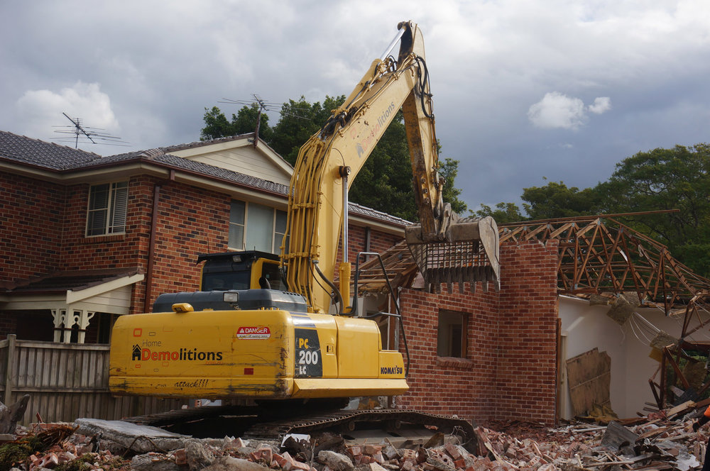 Brick House being demolished in West Ryde.jpg