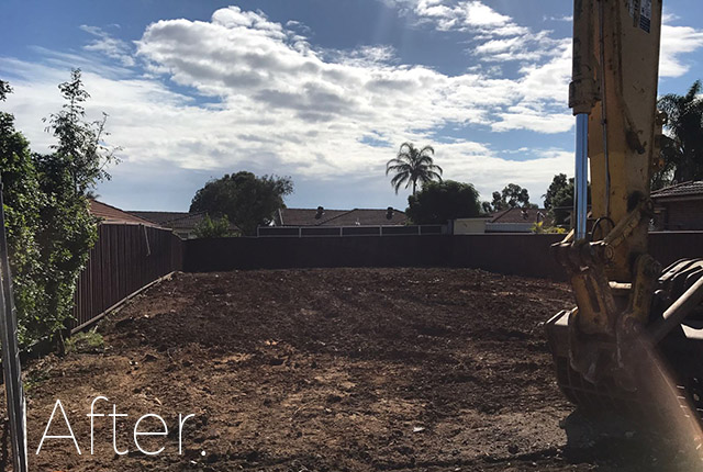 House in Claremont Meadows after demolition, NSW,  2747